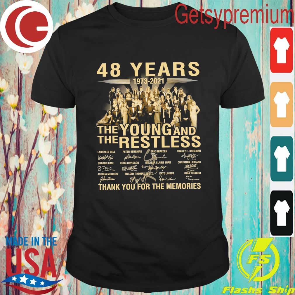 48 years 1973 2021 The Young and The Restless thank you for the memories signatures shirt