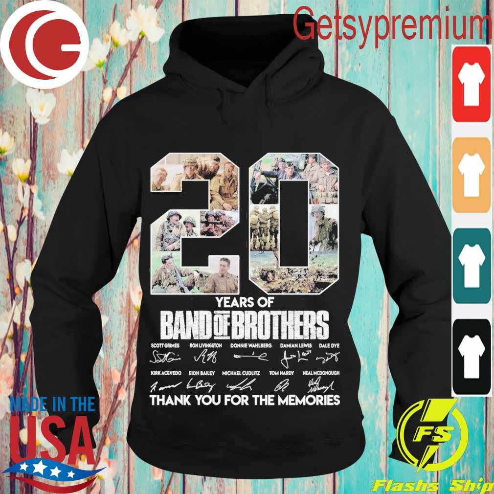 20 Year of Band of Brothers thank you for the memories signatures s Hoodie