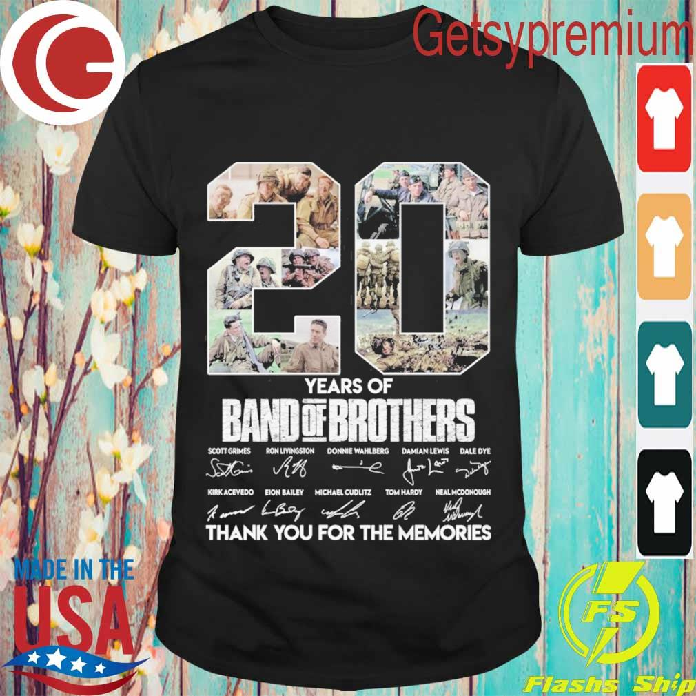 20 Year of Band of Brothers thank you for the memories signatures shirt
