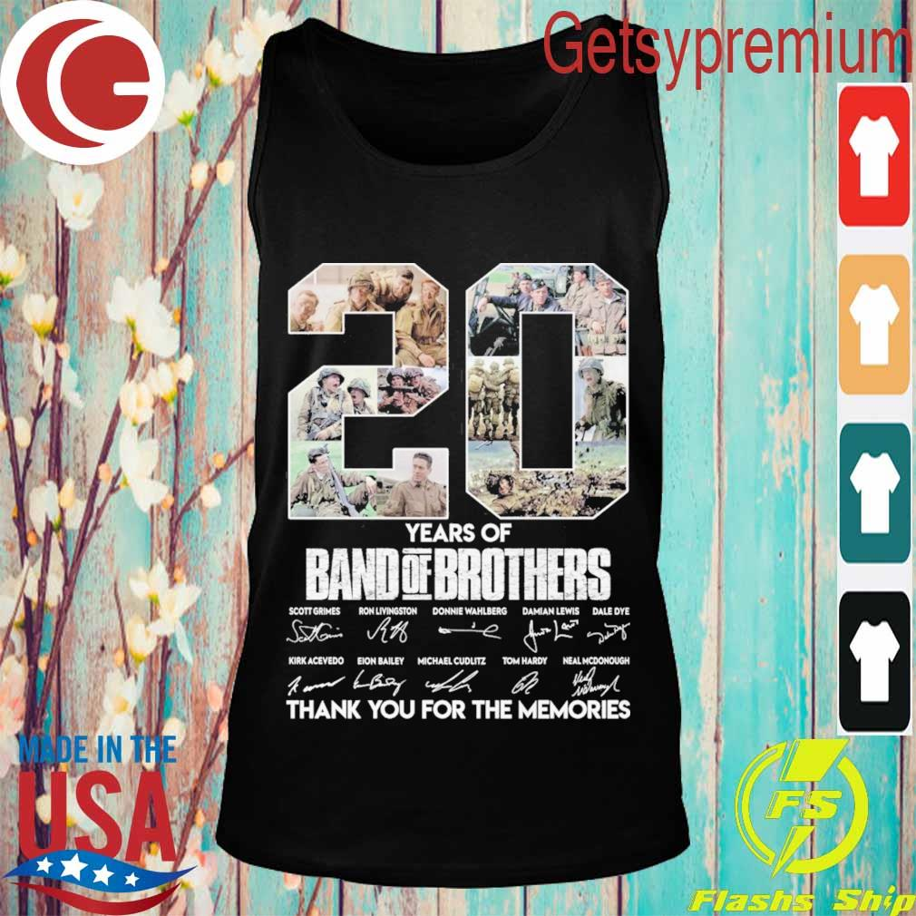 20 Year of Band of Brothers thank you for the memories signatures s Tank top