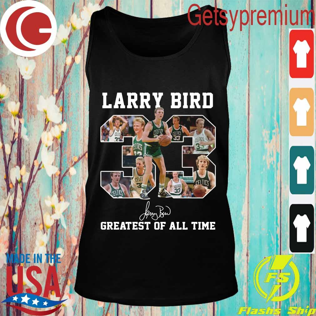 33 Larry Bird Greatest of all time signature s Tank top