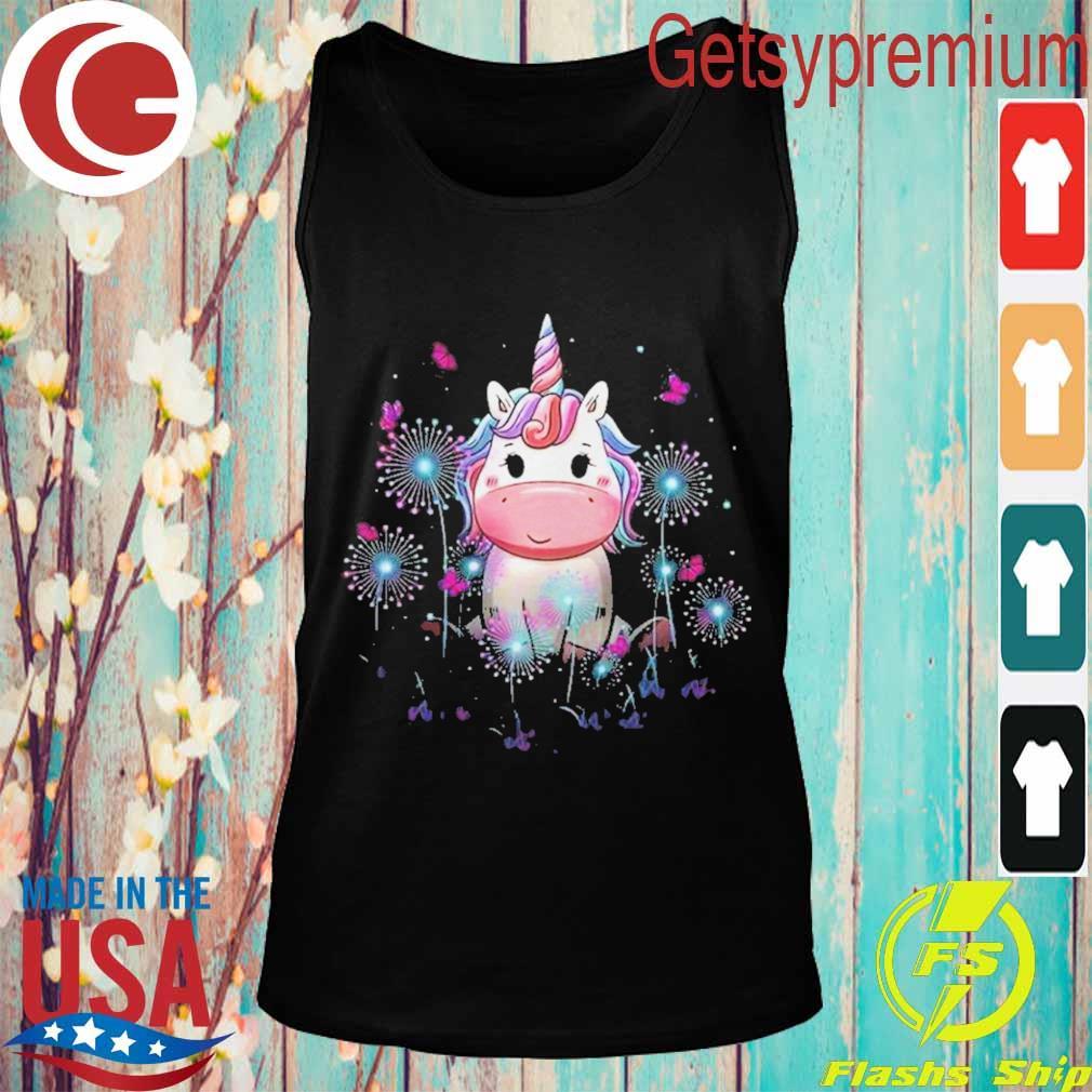 Baby Unicorn Dandelion Flowers Shirt Tank top
