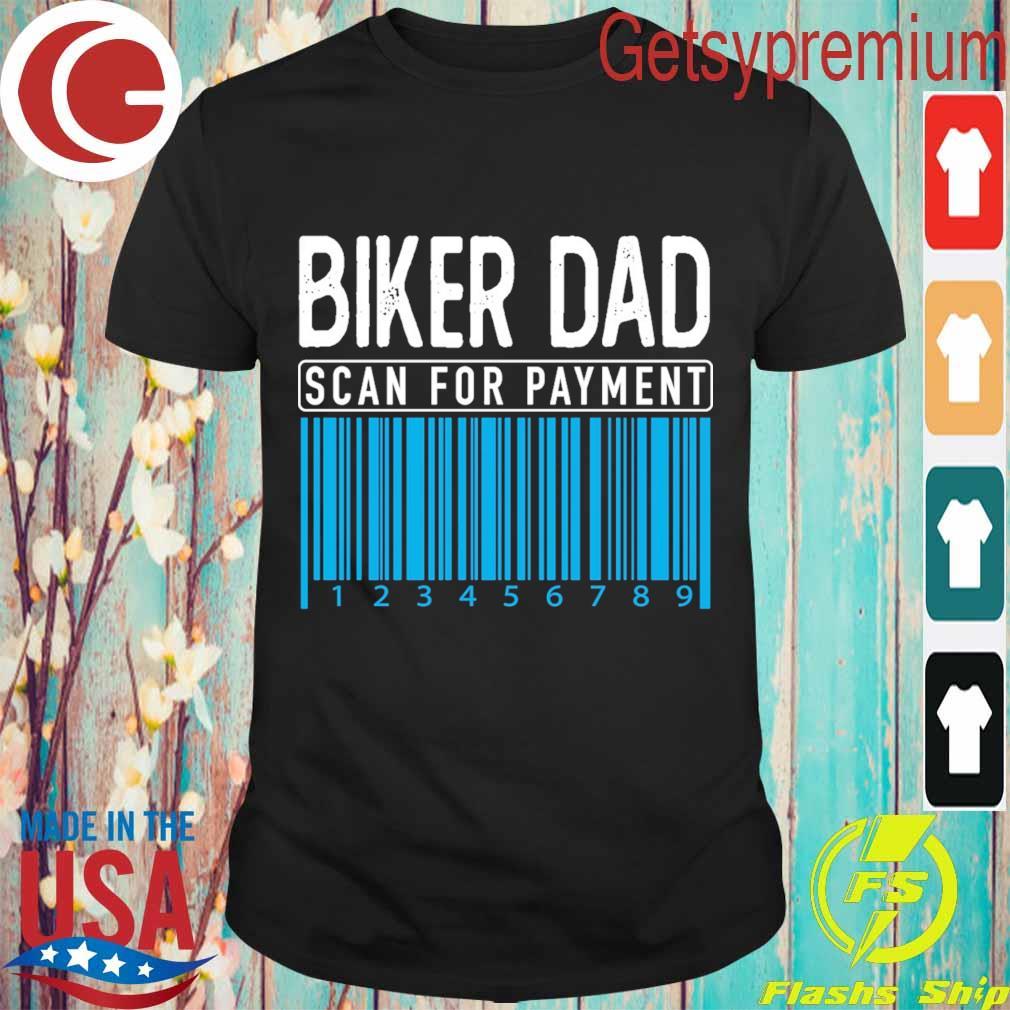 Biker Dad scan for payment shirt