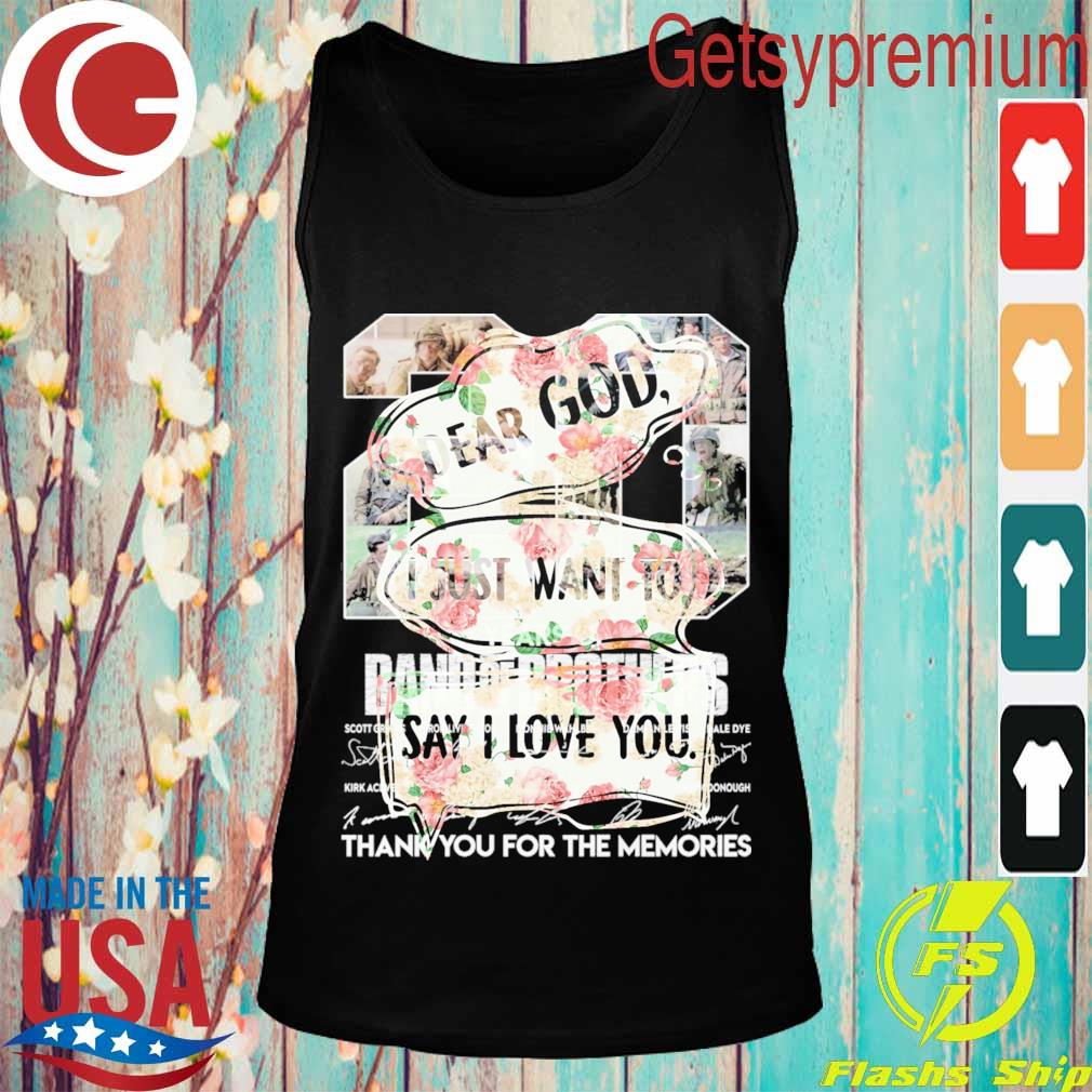 Floral Dear God I just want to say i love you s Tank top