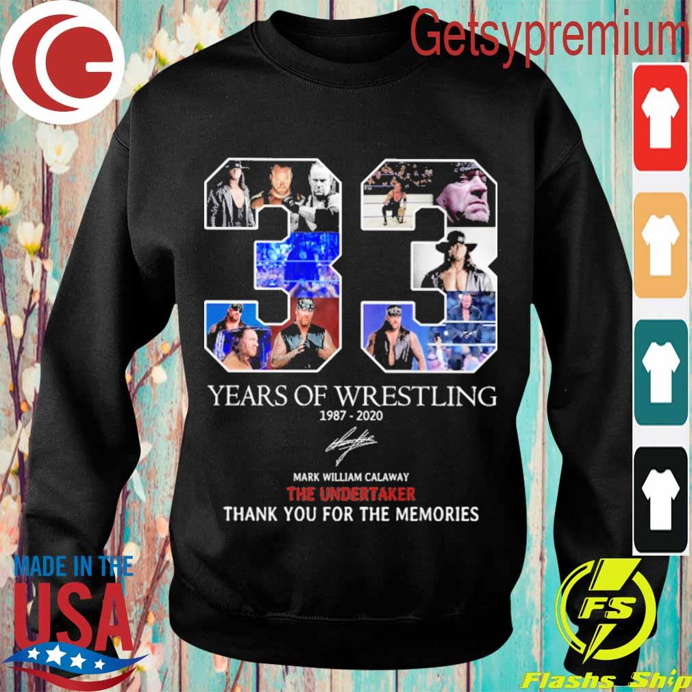 33 years of Wrestling 1987 2020 thank you for the memories signature s Sweatshirt