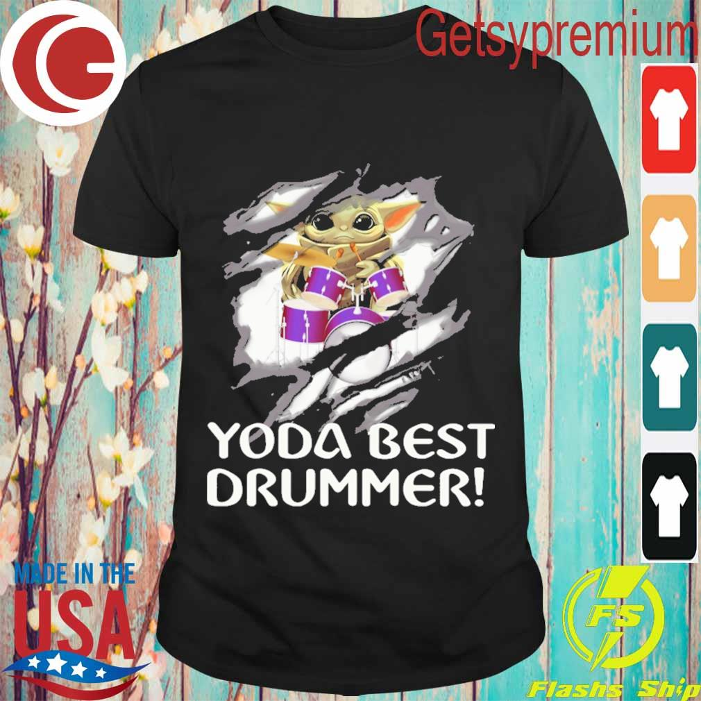 Blood inside me Baby Yoda best Drummer shirt