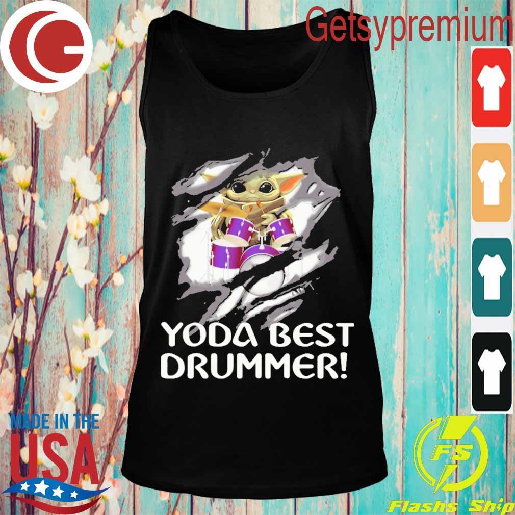 Blood inside me Baby Yoda best Drummer s Tank top