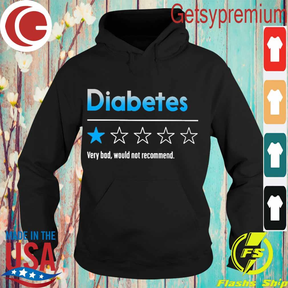 Diabetes very bad would not recommend 2020 s Hoodie
