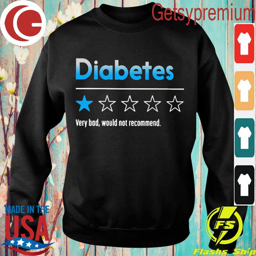 Diabetes very bad would not recommend 2020 s Sweatshirt