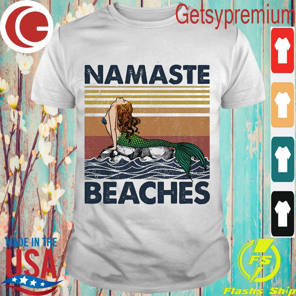 Mermaid namaste beaches vintage shirt