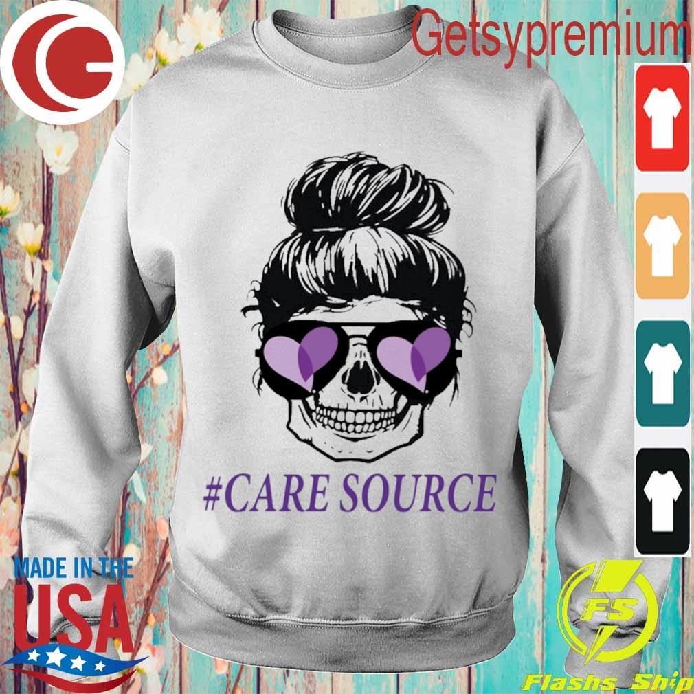 Mom life skull #Care Source s Sweatshirt