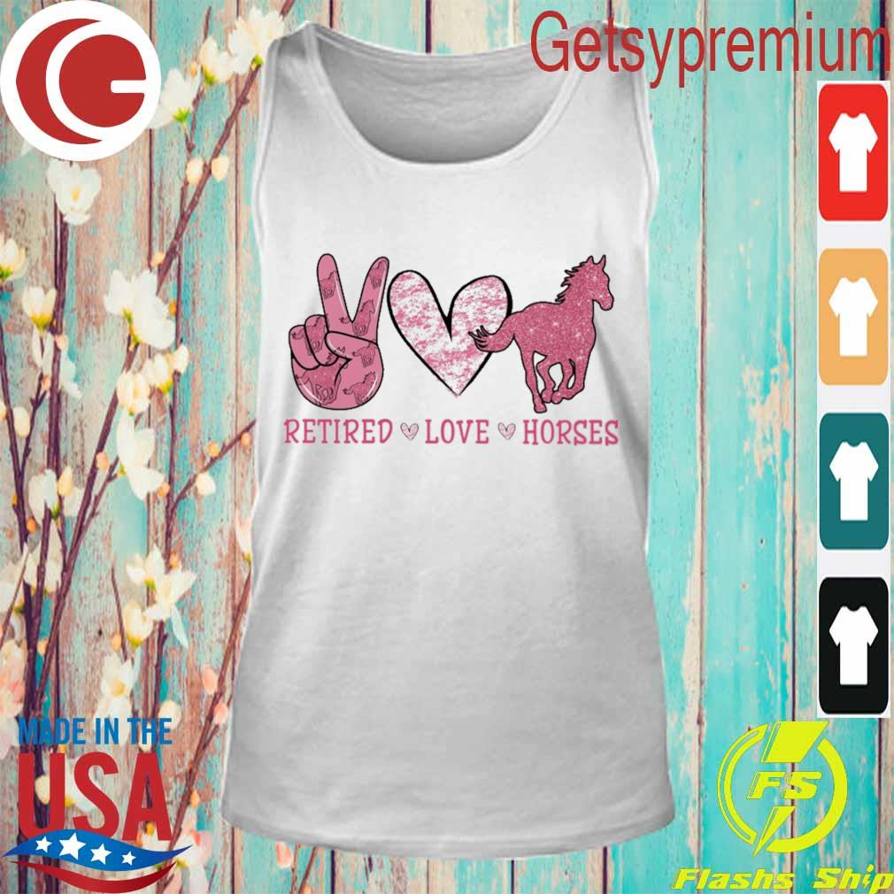 Retired Love Horses diamond s Tank Top