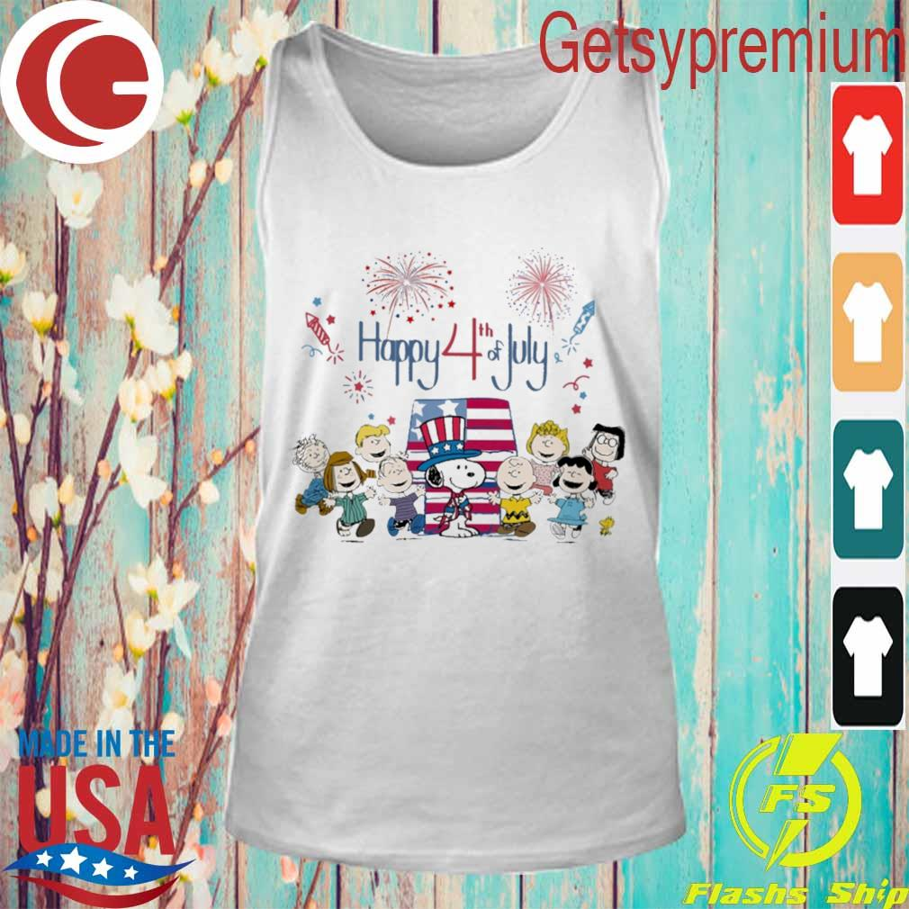 The peanuts happy 4th of July American flag s Tank Top