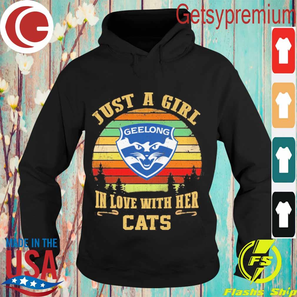 Geelong Football Club Just a Girl in love with her Cats vintage s Hoodie