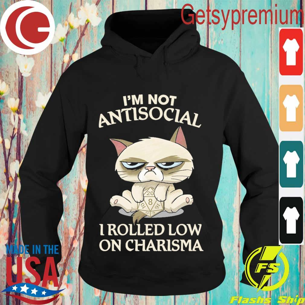 Grumpy Cat hug dungeon I'm not Antisocial I rolled low on Charisma s Hoodie