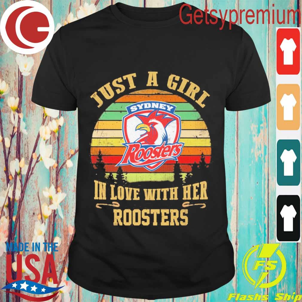 Just a Girl in love with her Roosters vintage shirt