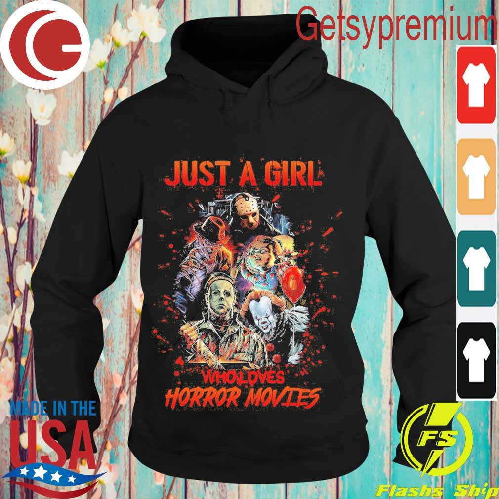 Just a Girl who loves Horror Movies Halloween s Hoodie