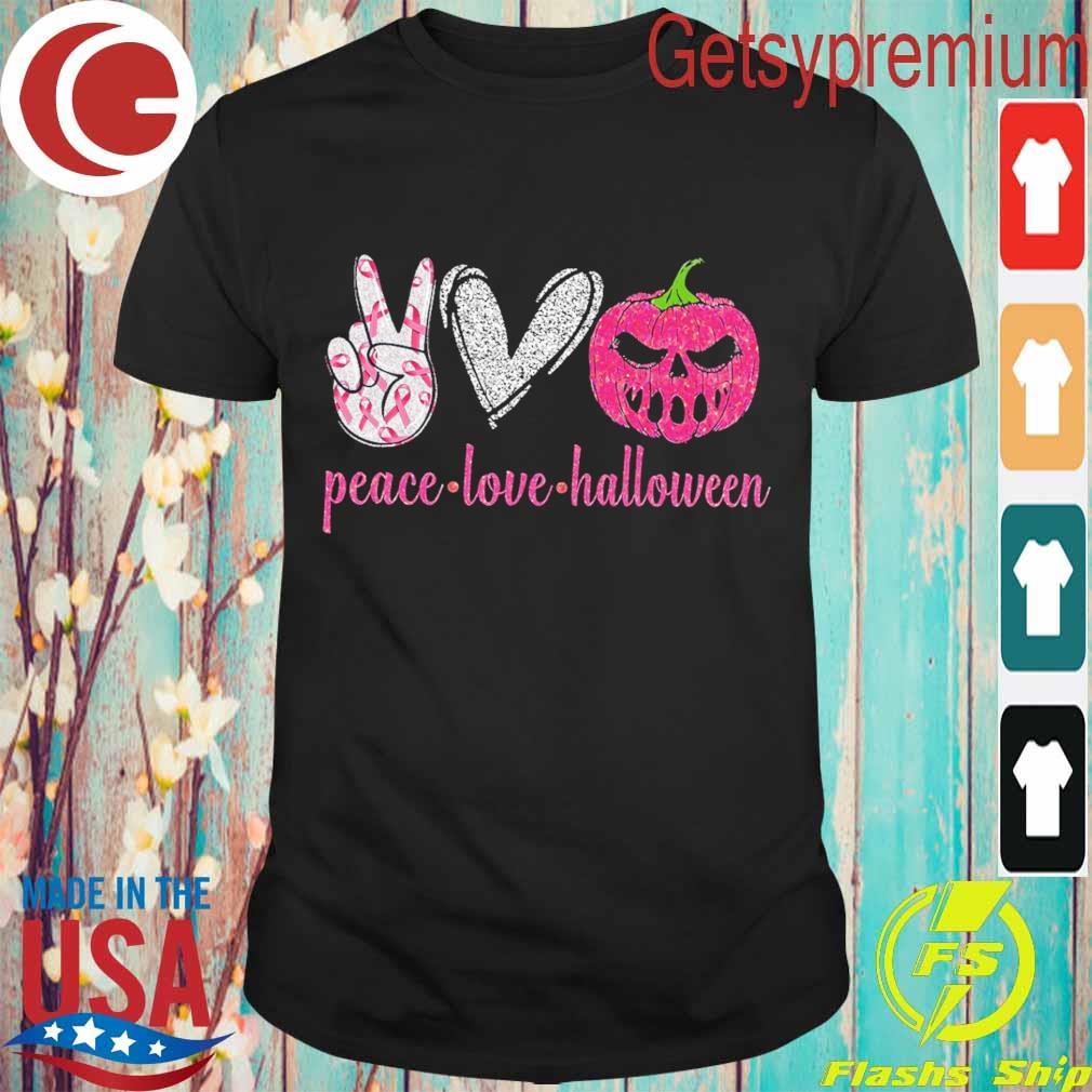 Official Peace love Halloween diamond shirt