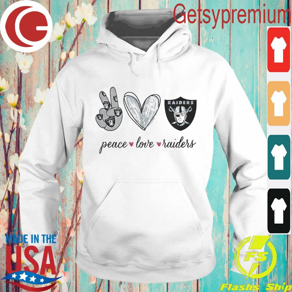 Peace Love Raiders diamond s Hoodie