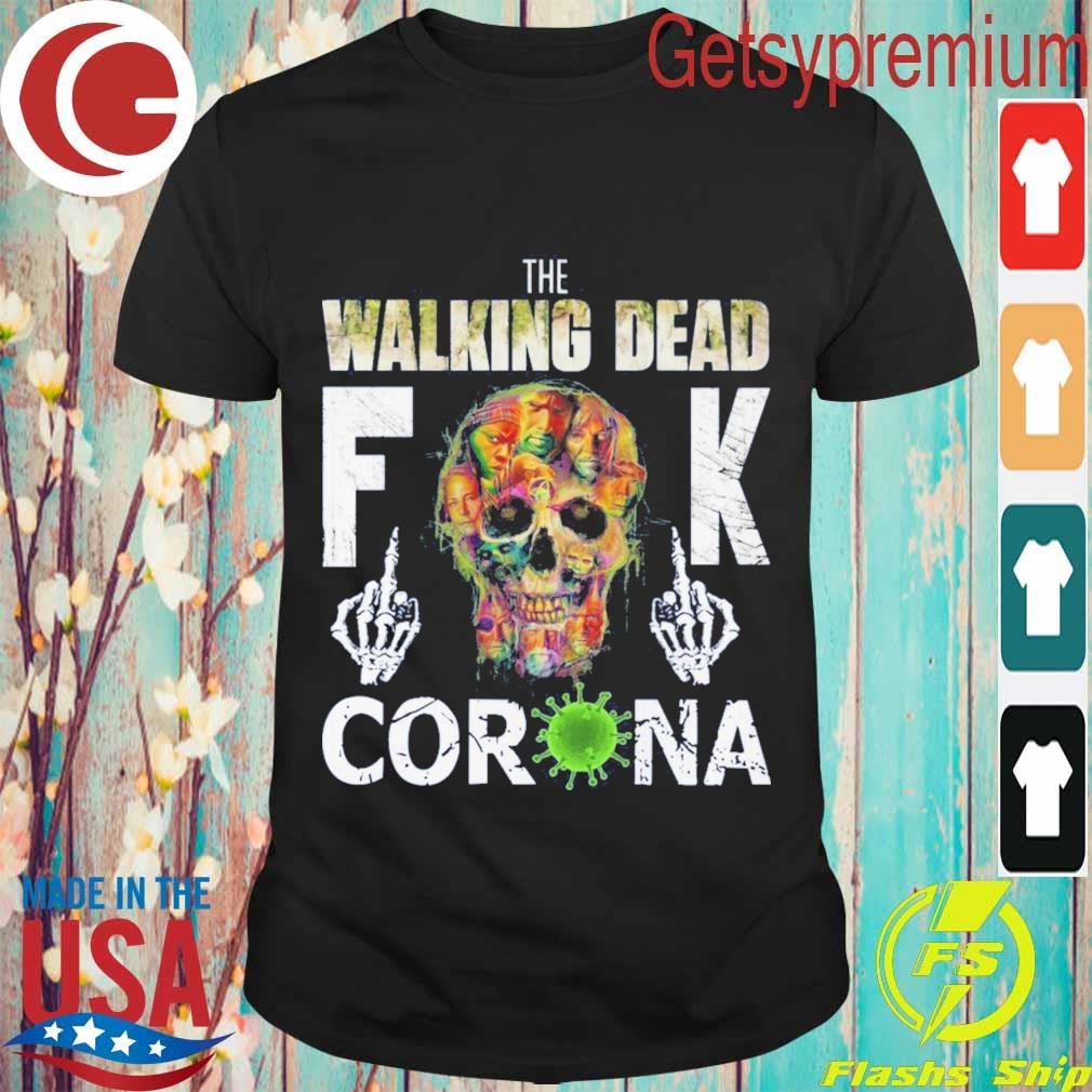 The Walking Dead skull fuck Corona shirt