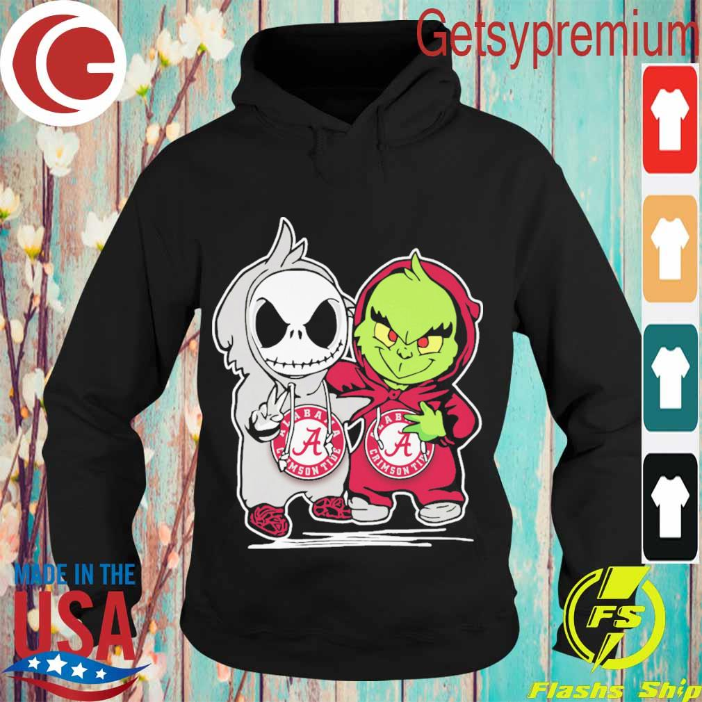 Baby Jack Skellington and Grinch Alabama Climson Tide s Hoodie