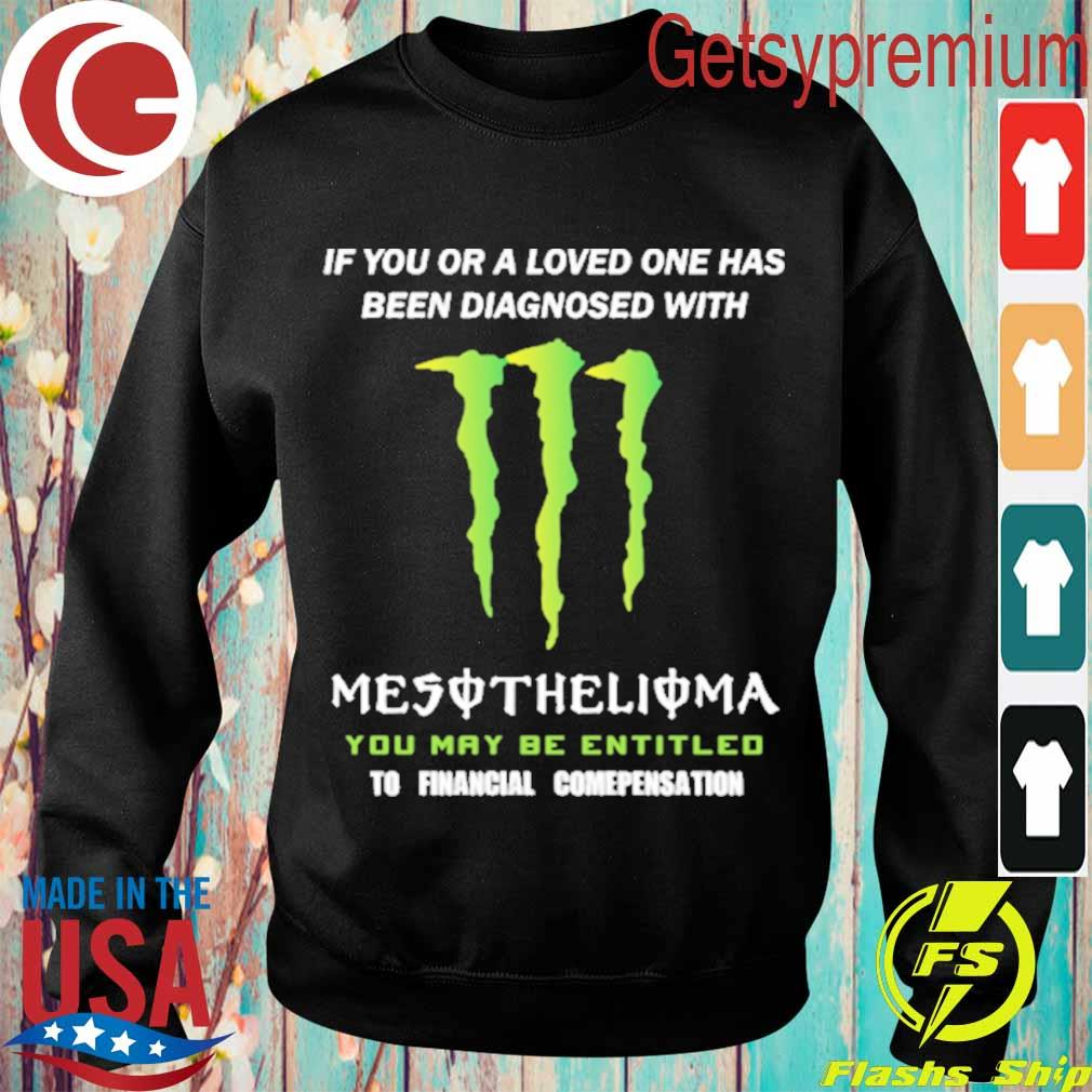 If You or a loved one has been diagnosed with Mesothelioma You may be entitled to financial compensation s Sweatshirt