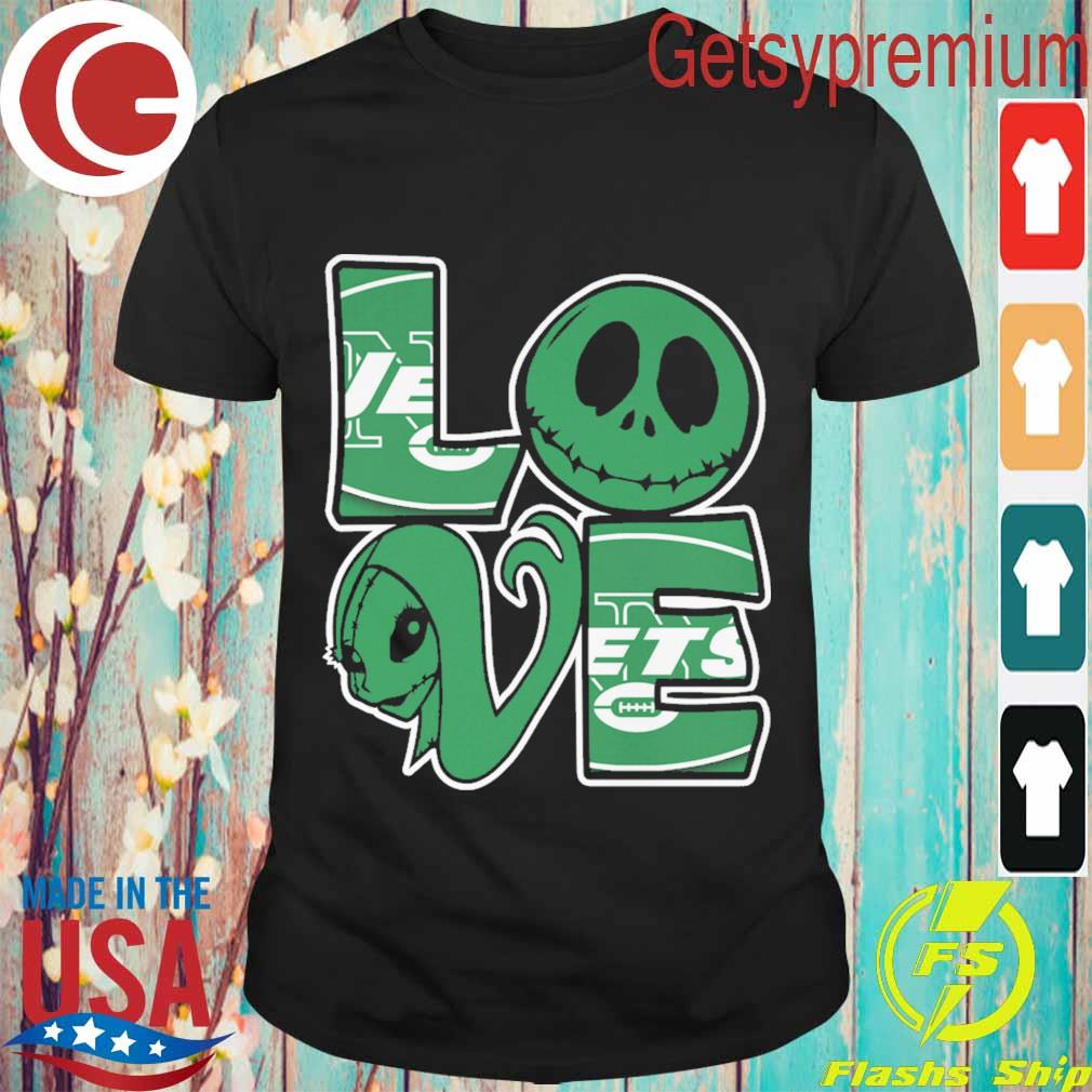 Jack Skellington and Sally love New York Jets shirt