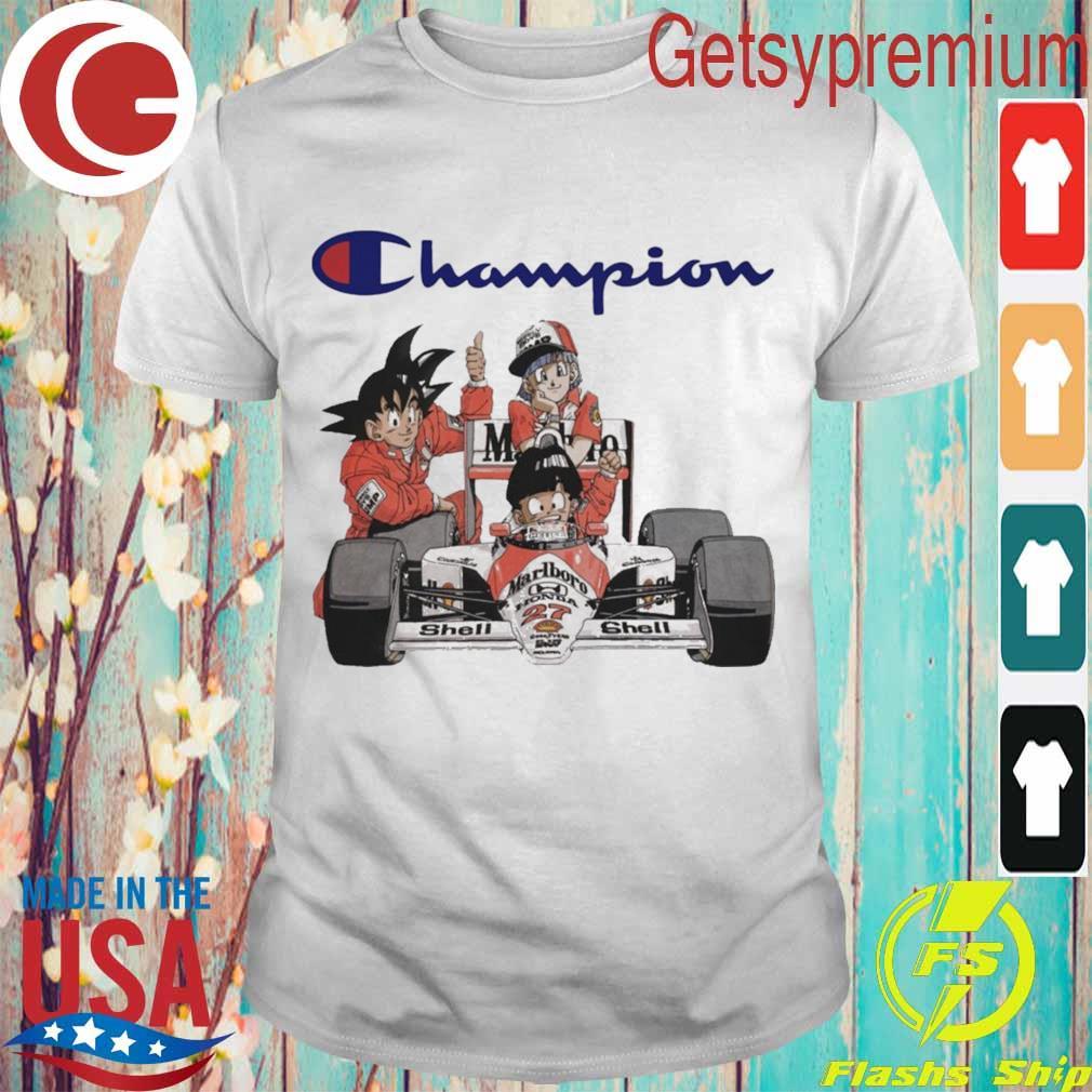 SonGoku and Bulma Marlboro F1 Champion shirt