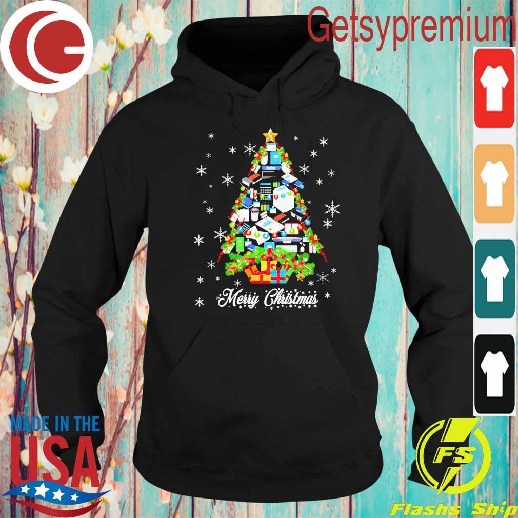Accountant Merry Christmas Tree s Hoodie