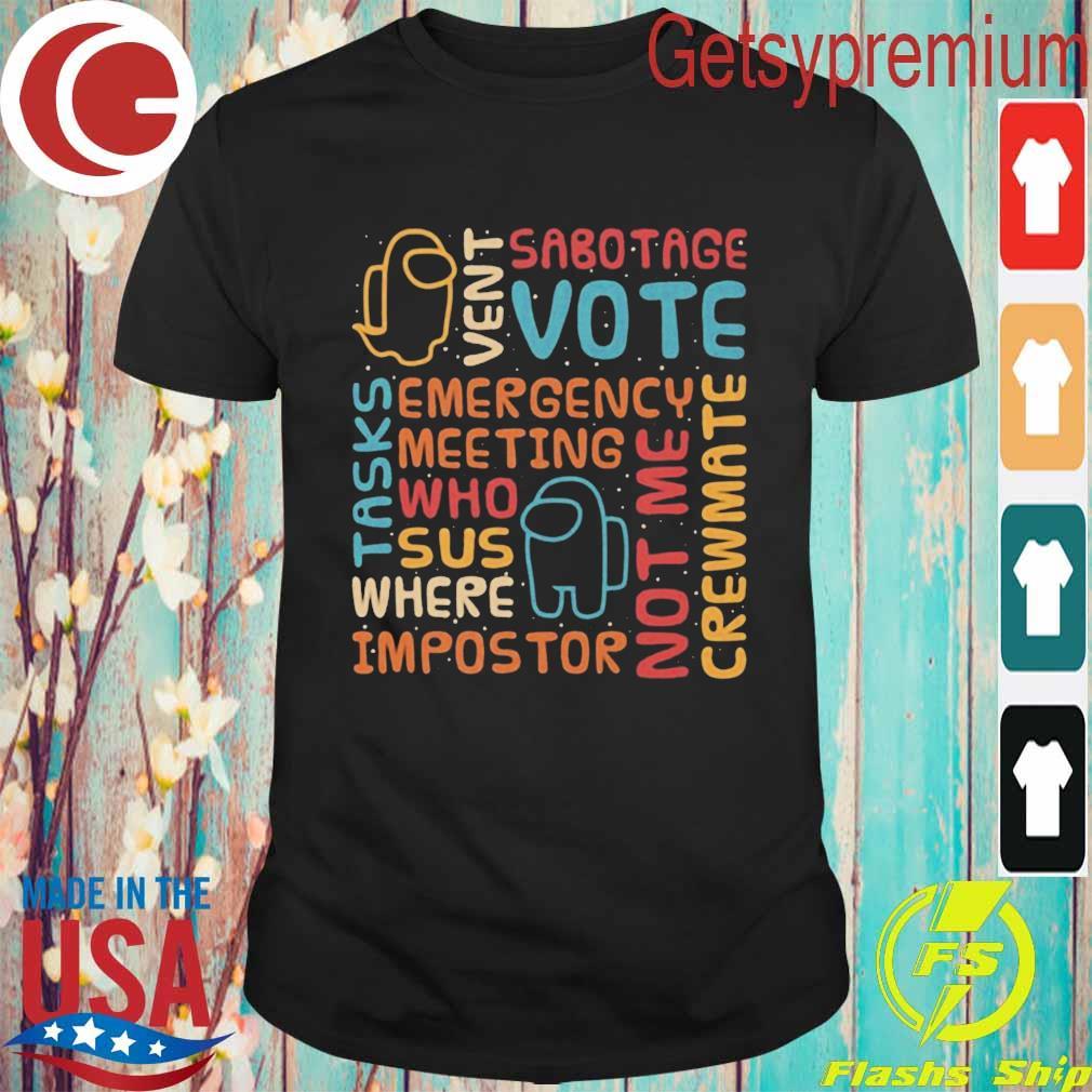 Among Us Glossary Retro shirt