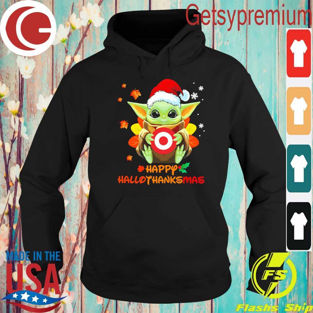 Baby Yoda hug Target Corp happy Hallothanksmas s Hoodie