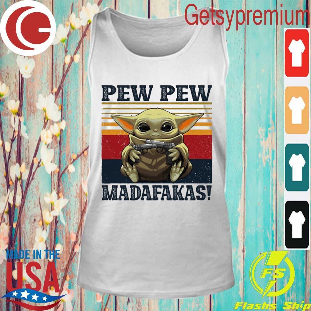 Baby Yoda Pew Pew madafakas vintage s Tank Top