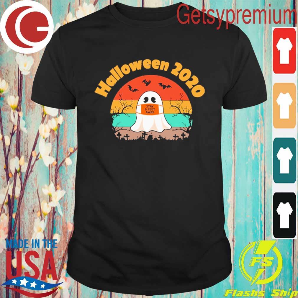 Boo Face Mask Halloween 2020 Stay 6 Feet Away vintage Shirt