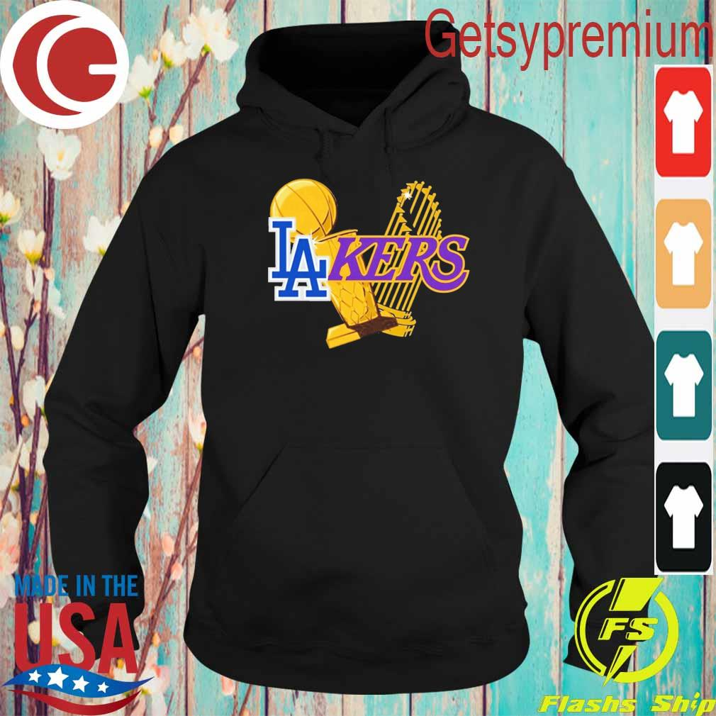 Dodgers Lakers 2020 World Champions Trophies s Hoodie
