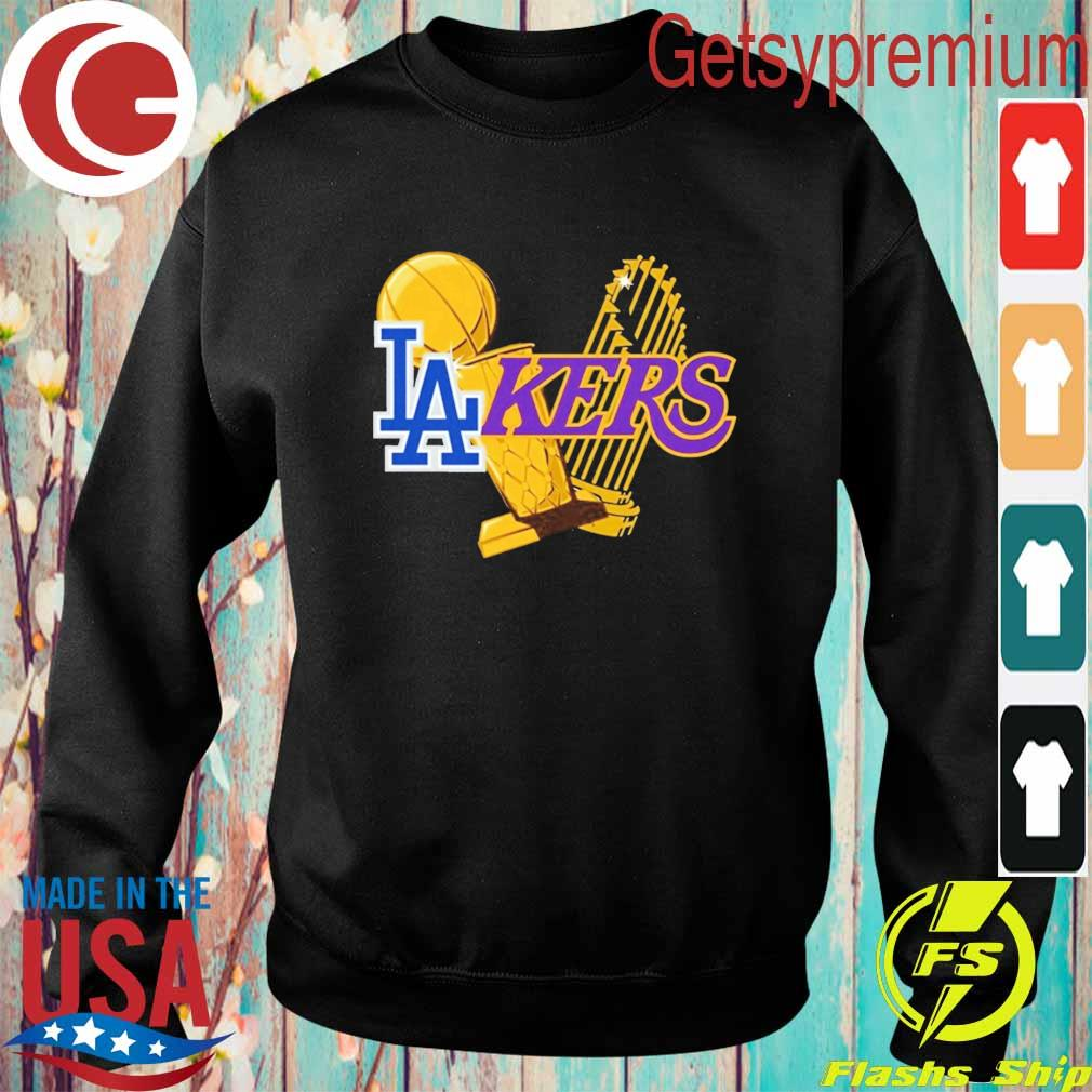 Dodgers Lakers 2020 World Champions Trophies s Sweatshirt