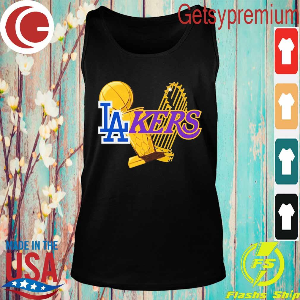 Dodgers Lakers 2020 World Champions Trophies s Tank top