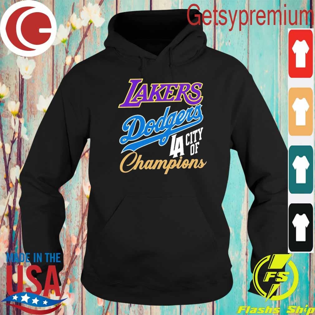 Dodgers Lakers Champions Championship World Series s Hoodie
