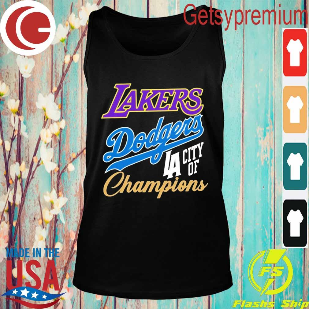 Dodgers Lakers Champions Championship World Series s Tank top