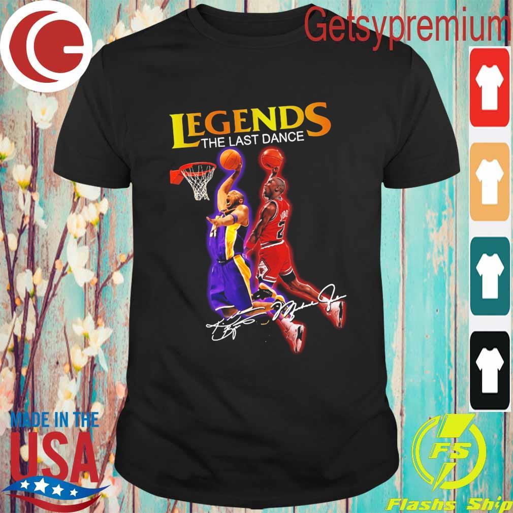 Legends The Last Dance Kobe Bryant And Michael Jordan Play Basketball Signatures Shirt