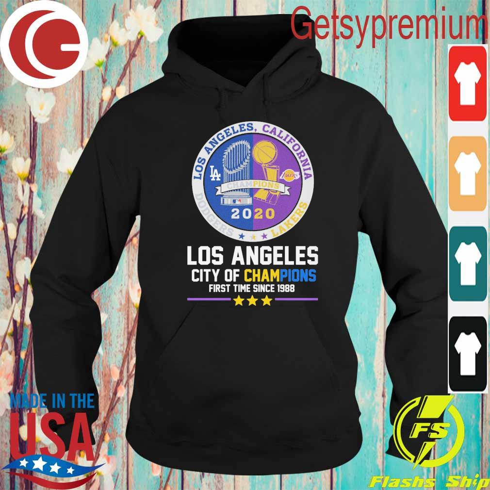 Los Angeles city of Champions first time since 1988 Champion 2020 s Hoodie
