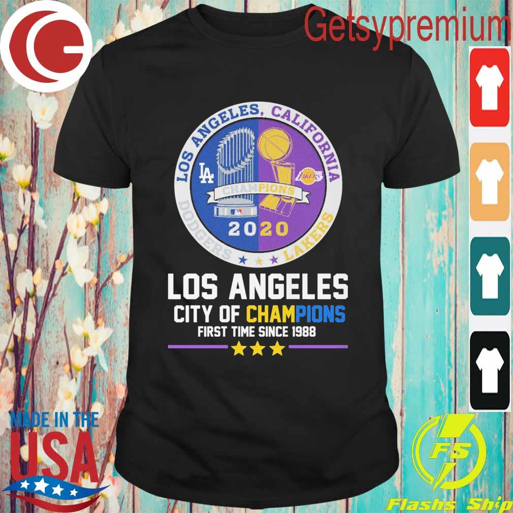 Los Angeles city of Champions first time since 1988 Champion 2020 shirt