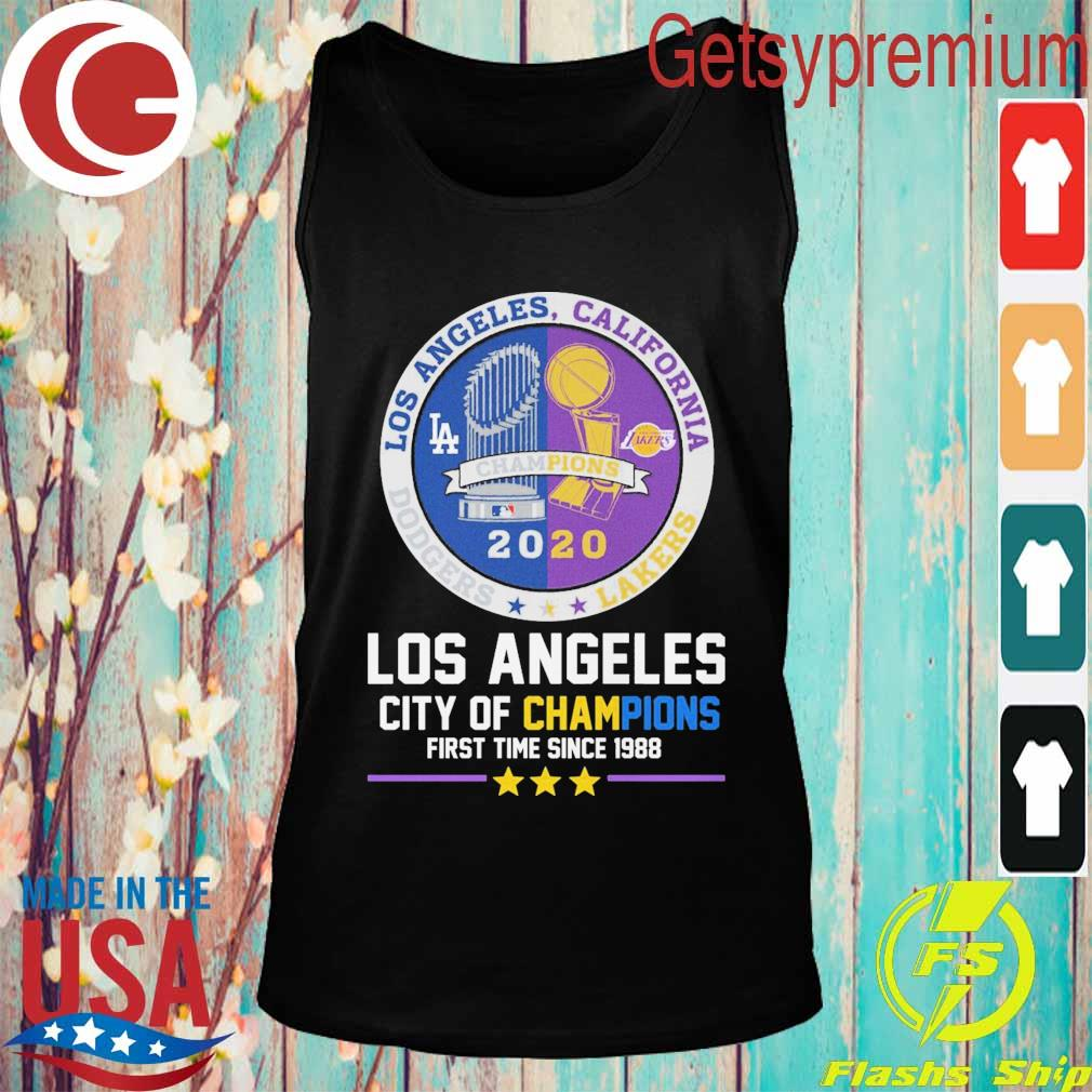 Los Angeles city of Champions first time since 1988 Champion 2020 s Tank top