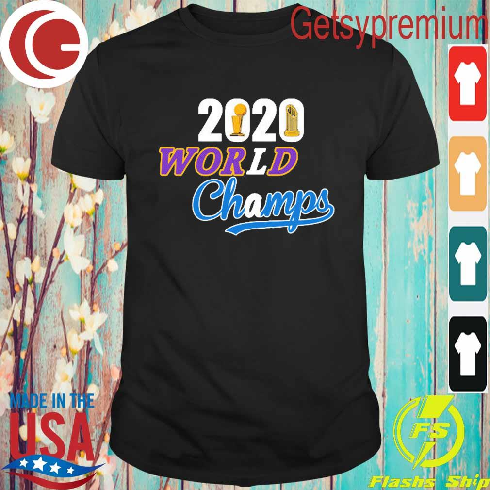 Los Angeles Dodgers Lakers 2020 World Series Champs shirt