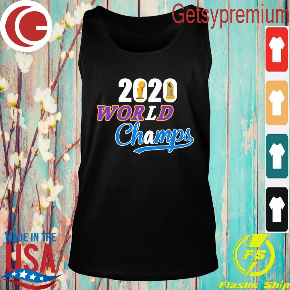 Los Angeles Dodgers Lakers 2020 World Series Champs s Tank top