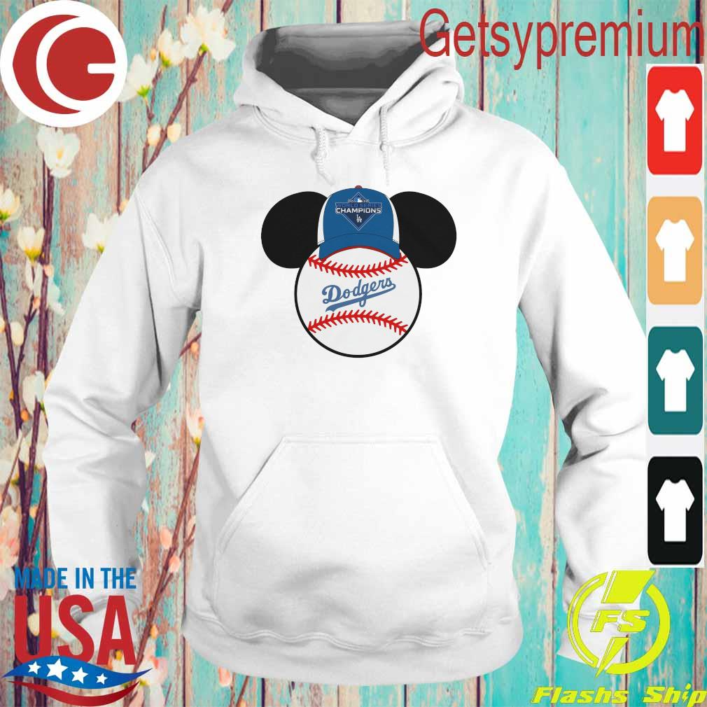 Los Angeles Dodgers Mickey Mouse Champions 2020 MLB s Hoodie