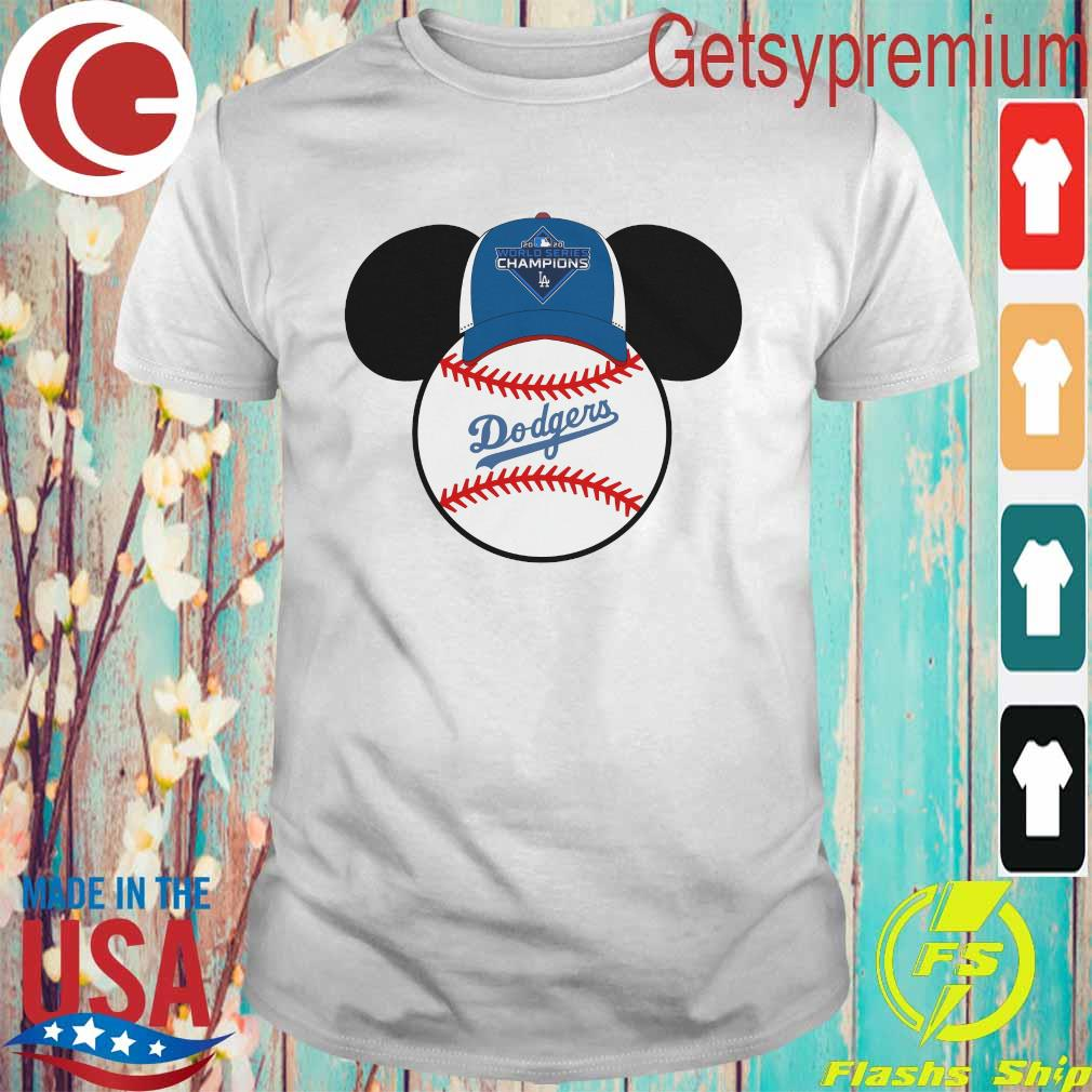 Los Angeles Dodgers Mickey Mouse Champions 2020 MLB shirt