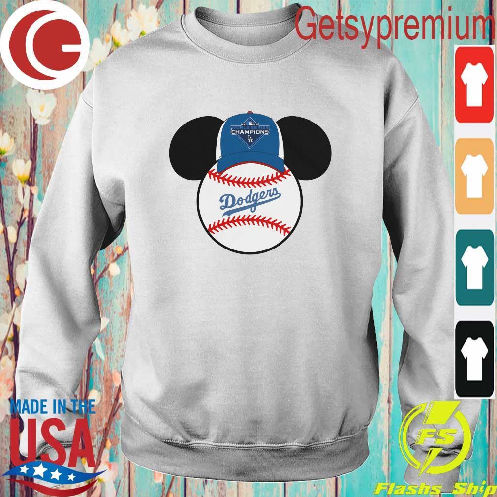 Los Angeles Dodgers Mickey Mouse Champions 2020 MLB s Sweatshirt