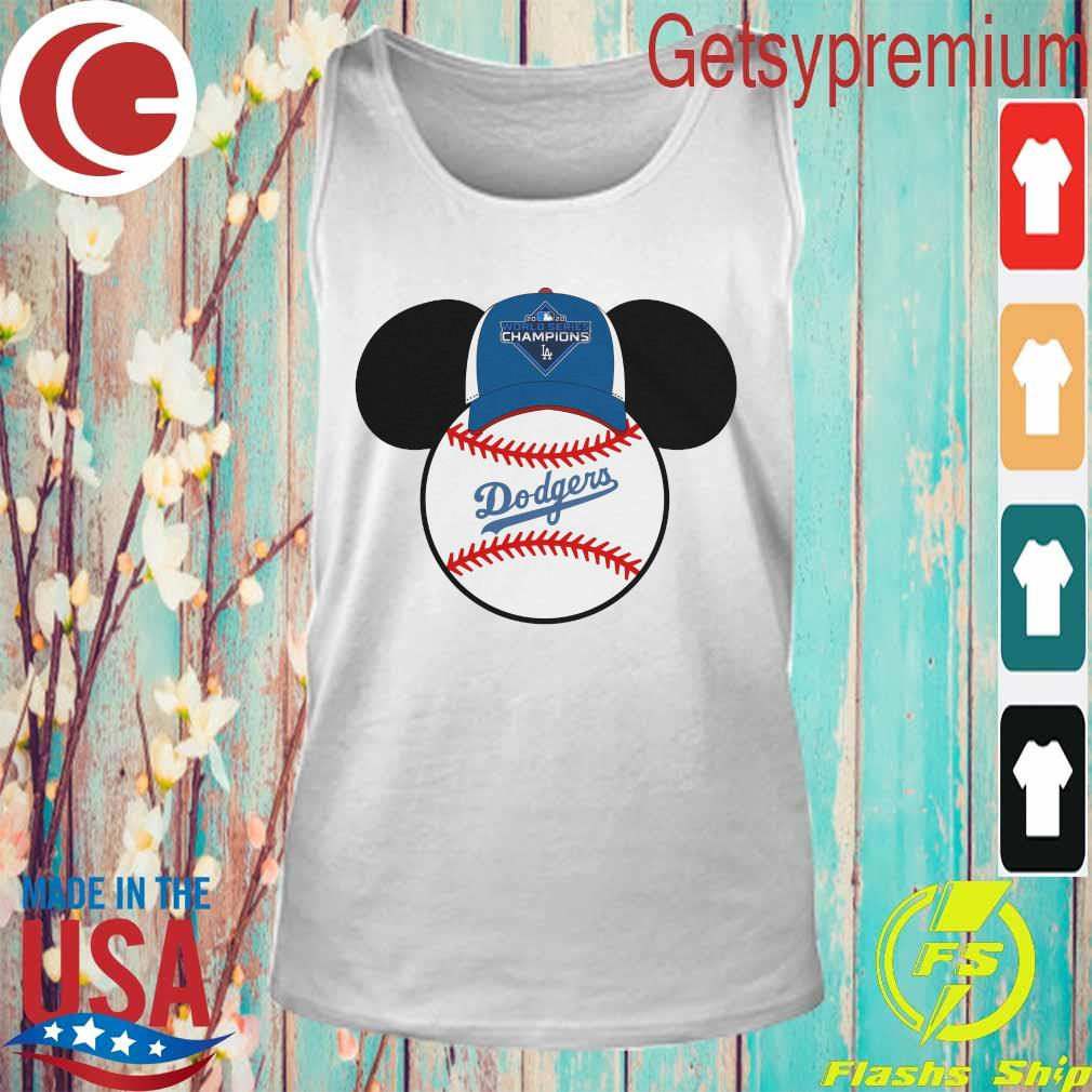 Los Angeles Dodgers Mickey Mouse Champions 2020 MLB s Tank Top