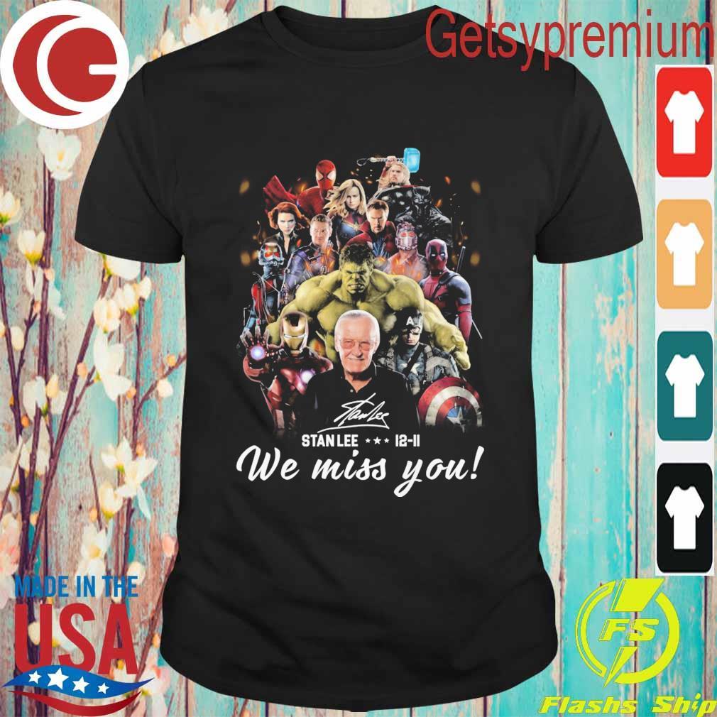 Marvel Avenger We Miss You Stan Lee 12 11 Signature Shirt