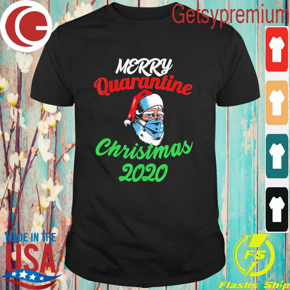 Merry Quarantine Christmas Santa Wearing Mask Funny shirt